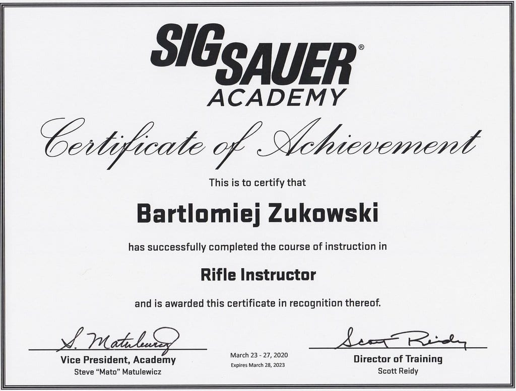 Rifle instructor by Sig Sauer