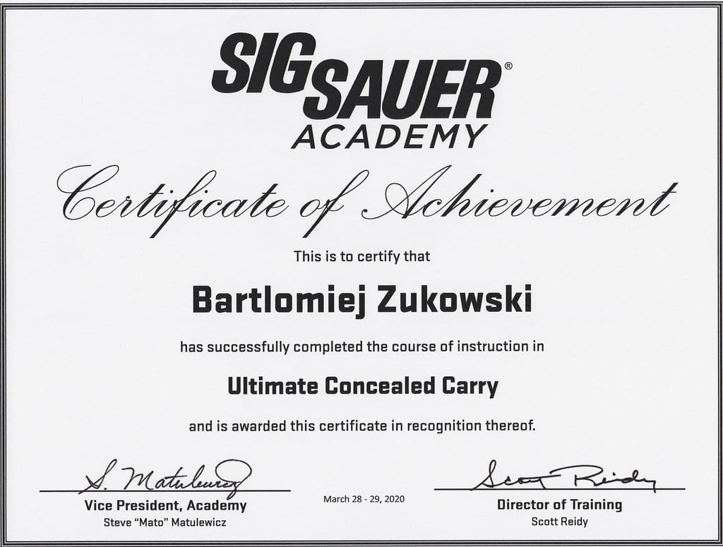 Ultimate Concealed Carry by SigSauer