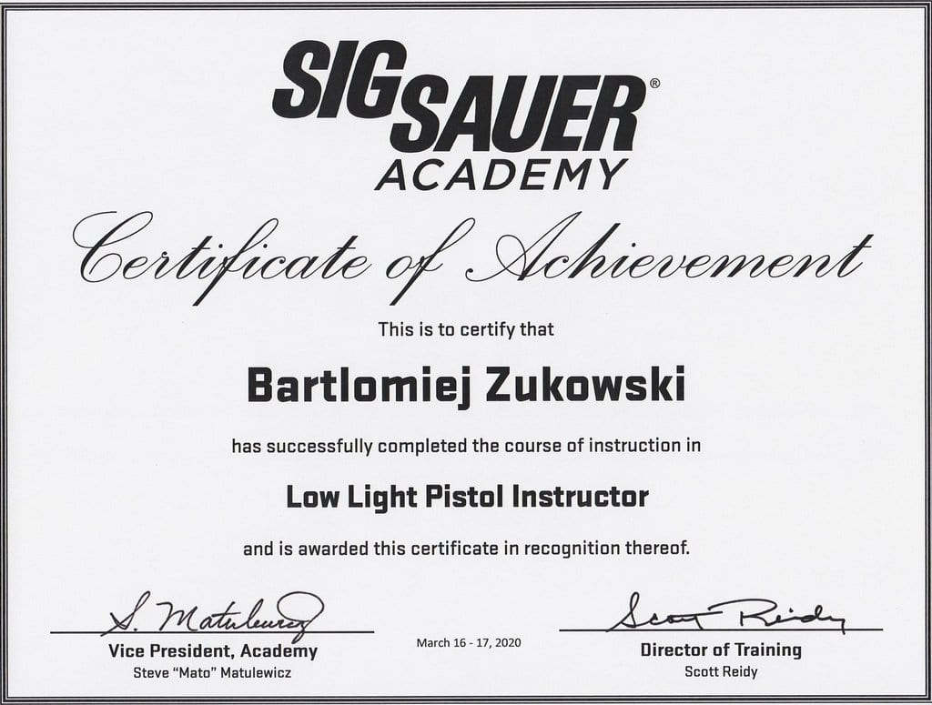 Low Light Instructor by SigSauer