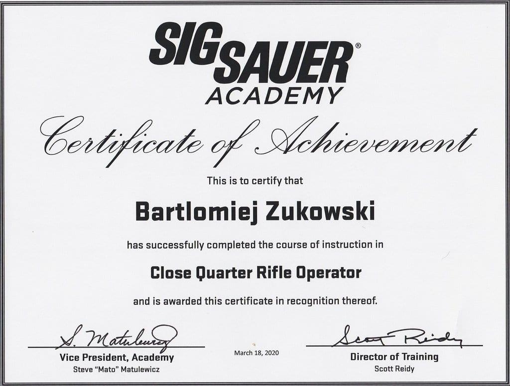 Close Quarter Rifle Operator by SigSauer
