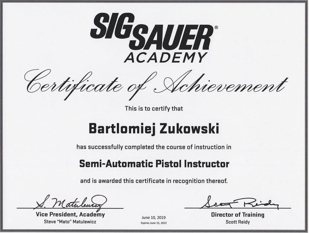 Semi Auto Pistol Instructor by SigSauer