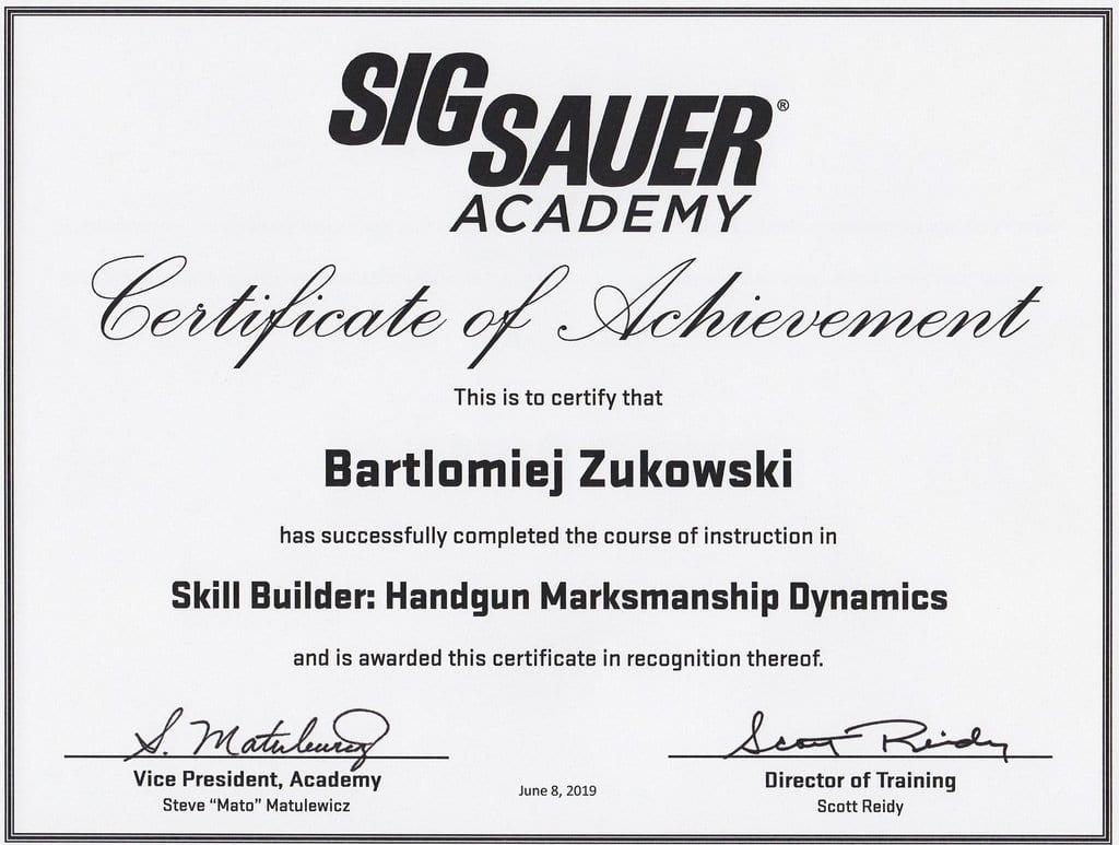 Handgun Dynamics by Sig Sauer