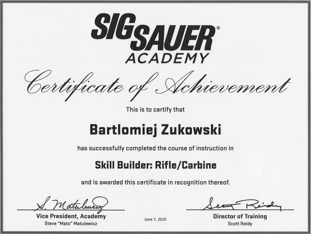 Skill Builder by SigSauer